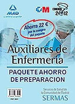 9788467685954: Preparacion de auxiliares de enfermeria (paquete ahorro sermas: temarios 1 y 2, test y simulacro examen)