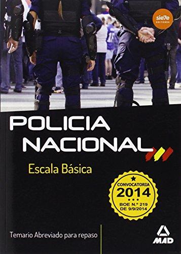 9788467699852: POLICIA NACIONAL ESC.BASICA ABRE.MAD