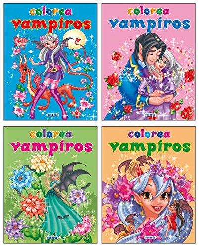 Colorea vampiros (4 títulos) (Paperback): AA.Vv.