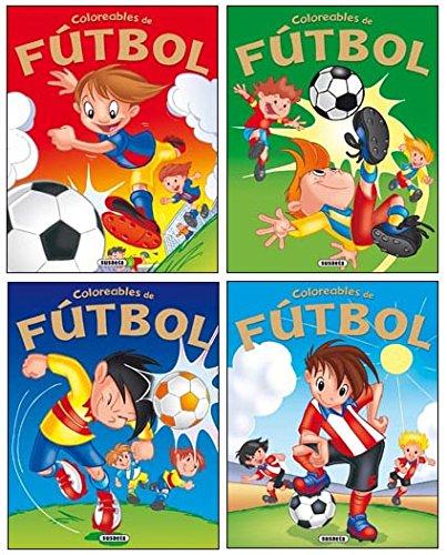 Coloreables de Fútbol (4 títulos) (Paperback): AA.Vv.
