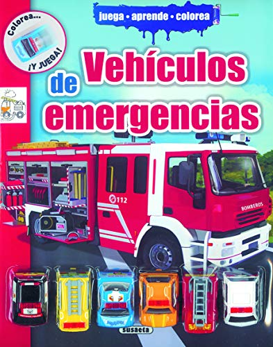 9788467725070: Vehículos de emergencias (Colorea y juega)
