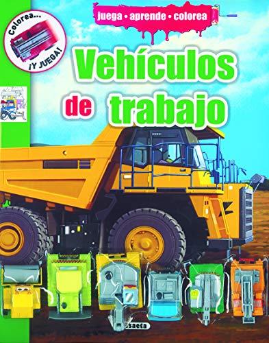 Vehículos de trabajo (Colorea y juega): Susaeta Ediciones S