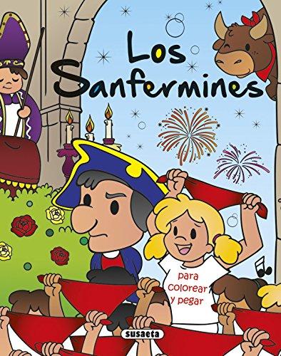 Los Sanfermines para colorear y pegar (Paperback): AA.Vv.