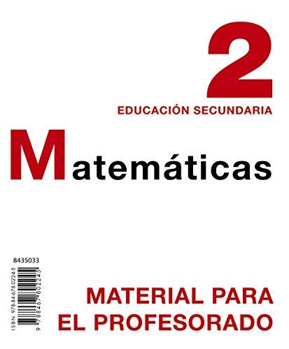 9788467802245: Matemáticas 2. Material para el profesorado.
