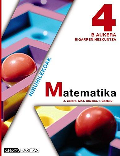 9788467826371: Matematika 4 B Aukera.