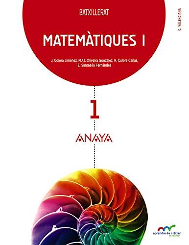 9788467827781: (VAL).(15).MATEMATIQUES I 1R.BATX.(C.NATURALS) VALENCIA