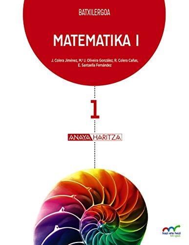 9788467828238: (EUS).(16).MATEMATIKA I. 1ºBATX.