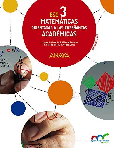 9788467852134: Matemáticas orientadas a las Enseñanzas Académicas 3. Trimestres. (Aprender es crecer en conexión) - 9788467852134
