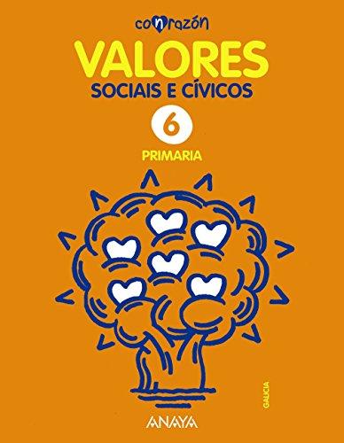 Con razón, valores sociais e cívicos, 6 Educación Primaria (Galicia) (Paperback) - Elisa Lucena Llorca, Fernando Martínez Llorca, Benjamín Romo Escudero
