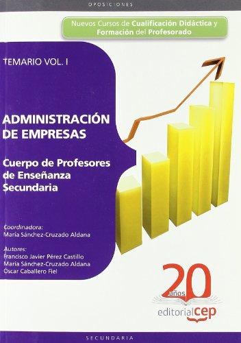9788468103655: (I) cuerpo de profesores de ense�anza secundaria, administracion y direccion de empresas