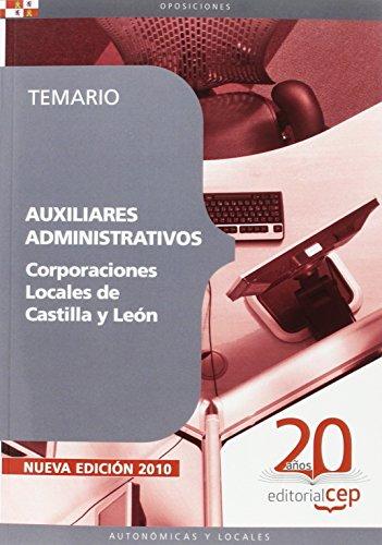 9788468106601: Auxiliares Administrativos Corporaciones Locales de Castilla y León. Temario