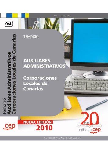 9788468107653: Auxiliares Administrativos Corporaciones Locales de Canarias. Temario (Colección 314)