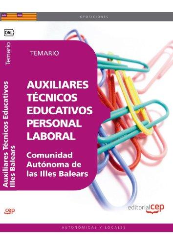 9788468118888: Auxiliares Técnicos Educativos. Personal Laboral Comunidad Autónoma de las Illes Balears. Temario (Colección 1602)