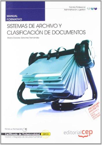 9788468122786: Manual Sistemas de archivo y clasificación de documentos. Certificados de profesionalidad