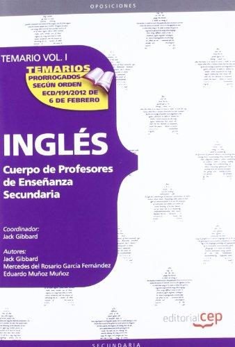 9788468131108: Cuerpo de profesores de enseñanza secundaria. Inglés. Temario. Vol. I