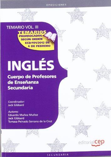 9788468131122: Cuerpo de profesores de enseñanza secundaria. Inglés. Temario. Vol. III