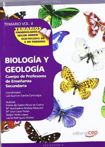 9788468131849: Cuerpo de Profesores de Enseñanza Secundaria. Biología y Geología. Temario Vol. II.: 2 (Profesores Eso 2012 (cep))