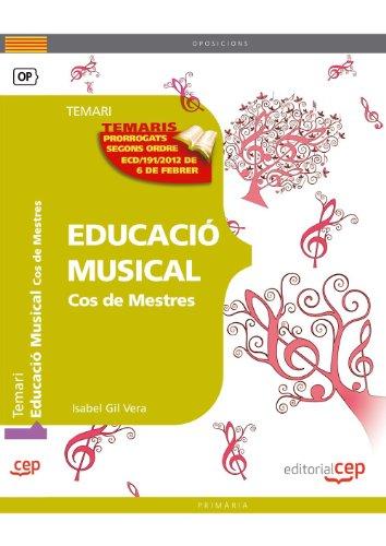 9788468132143: Cos de Mestres. Educació Musical. Temari