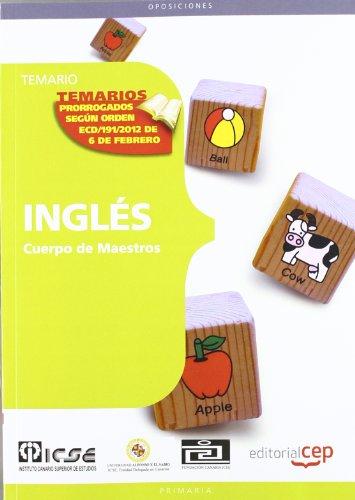 9788468132228: Cuerpo de Maestros. Inglés. Temario (Cuerpo Maestros 2012 (cep))