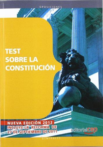 9788468143613: Test sobre la Constitución