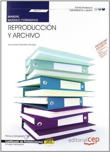 Manual de reproducción y archivo : certificados: Ana Isabel Zapatero