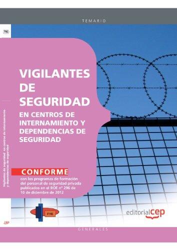 9788468147123: Vigilantes de seguridad en centros de internamiento y dependencias de seguridad