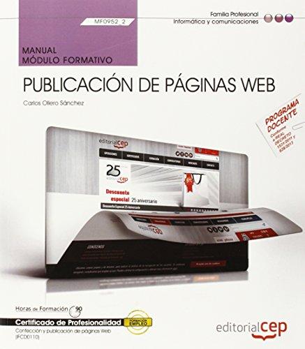 9788468156385: Manual Publicación de páginas web. Certificados de profesionalidad. Confección y publicación de páginas Web