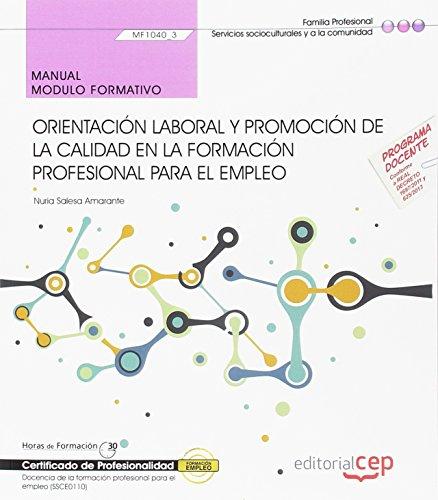 Manual. Orientación laboral y promoción de la