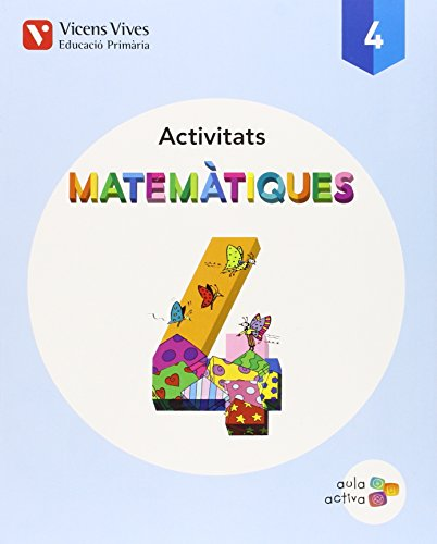 9788468229805: Quadern matematiques 4t.primaria. Aula activa
