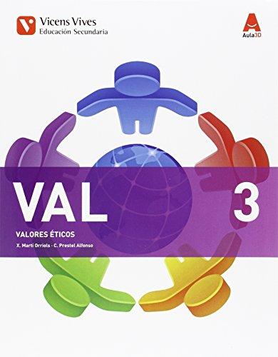9788468230474: VAL 3 (VALORES ETICOS ESO) AULA 3D
