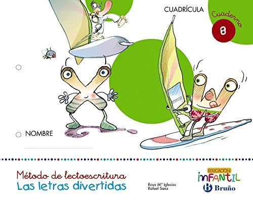9788469612583: Las letras divertidas Cuadrícula Cuaderno 8 - 9788469612583