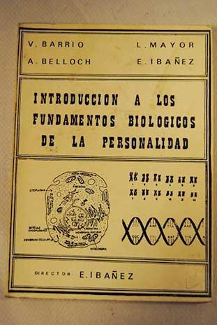 9788470130649: Introducción a los fundamentos biológicos de la personalidad (Spanish Edition)