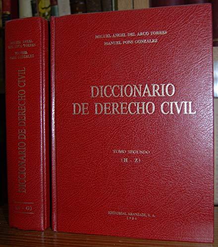 9788470162572: Diccionario de derecho civil