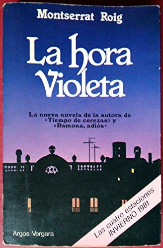 9788470179808: Hora violeta, la