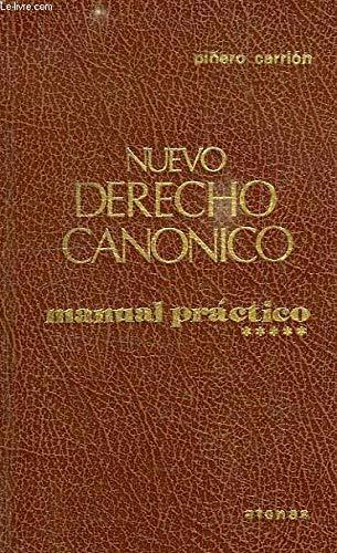 9788470201240: Nuevo derecho canónico: Manual práctico (Síntesis) (Spanish Edition)