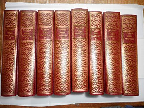 9788470301506: Obras Completas de Pio Baroja - 8 Tomos (Spanish Edition)