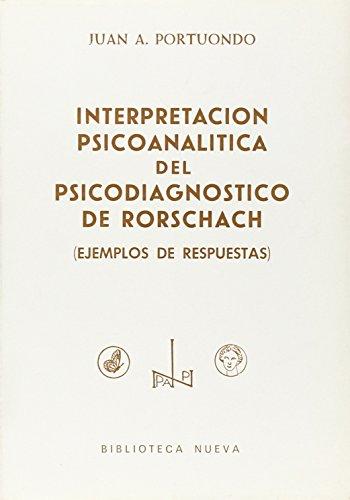 9788470301889: Interpretación Psicoanalítica Del Psicodiagnóstico De Rorschach