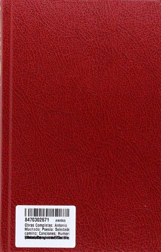 9788470302671: Obras Completas de Manuel y Antonio Machado (Spanish Edition)