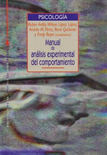 9788470305412: Manual de análisis experimental del comportamiento