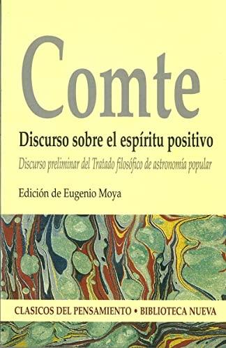 9788470306242: Discurso sobre el espíritu positivo (Clásicos del pensamiento)