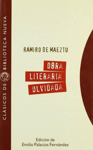 9788470307621: Obra literaria olvidada (1897-1900) (Clásicos de Biblioteca Nueva)