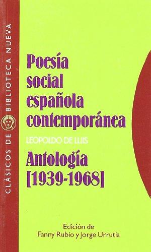 9788470308031: POESIA SOCIAL ESPAnOLA CONTEMPORANEA. ANTOLOGIA (1939-1968) (Spanish Edition)