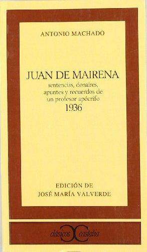 9788470390364: Juan de Mairena (CLASICOS CASTALIA. C/C.)