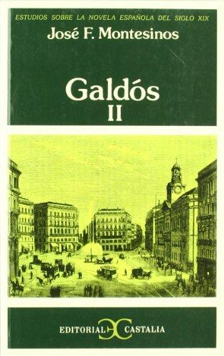 9788470390852: Galdós, II. (ESTUD.SOBRE NOVELA ESPAÑOLA DEL S.XIX.)