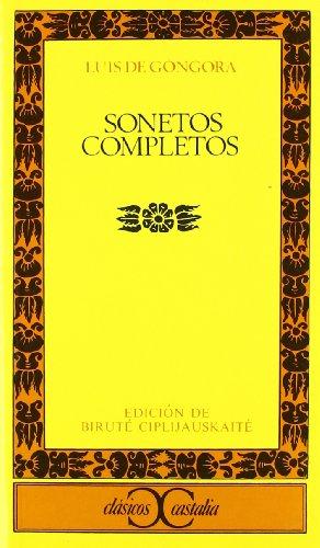9788470390869: Sonetos completos . (CLASICOS CASTALIA. C/C.)