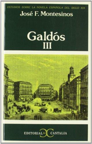 9788470391378: Galdós, III .