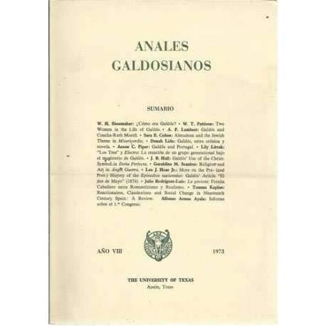 Anales galdosianos. (t.8): n/a