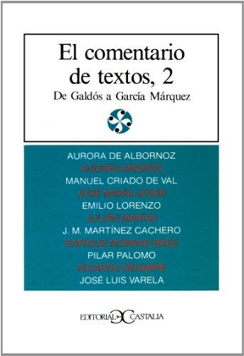 9788470391767: El comentario de textos, II . (LITERATURA Y SOCIEDAD. L/S.)