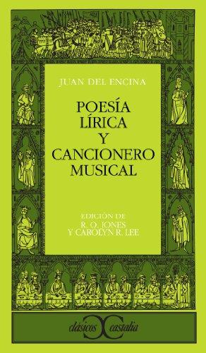 9788470391910: Poesia Lirica y Cancionero Musical (Clasicos Castalia) (Spanish Edition)