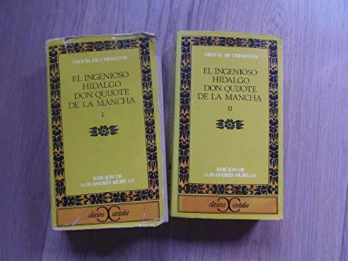 9788470392849: El ingenioso Hidalgo don quijote de la Mancha obra completa 3 vols (Clásicos Castalia)